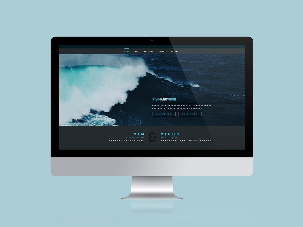 Vim and Vigor Website Design