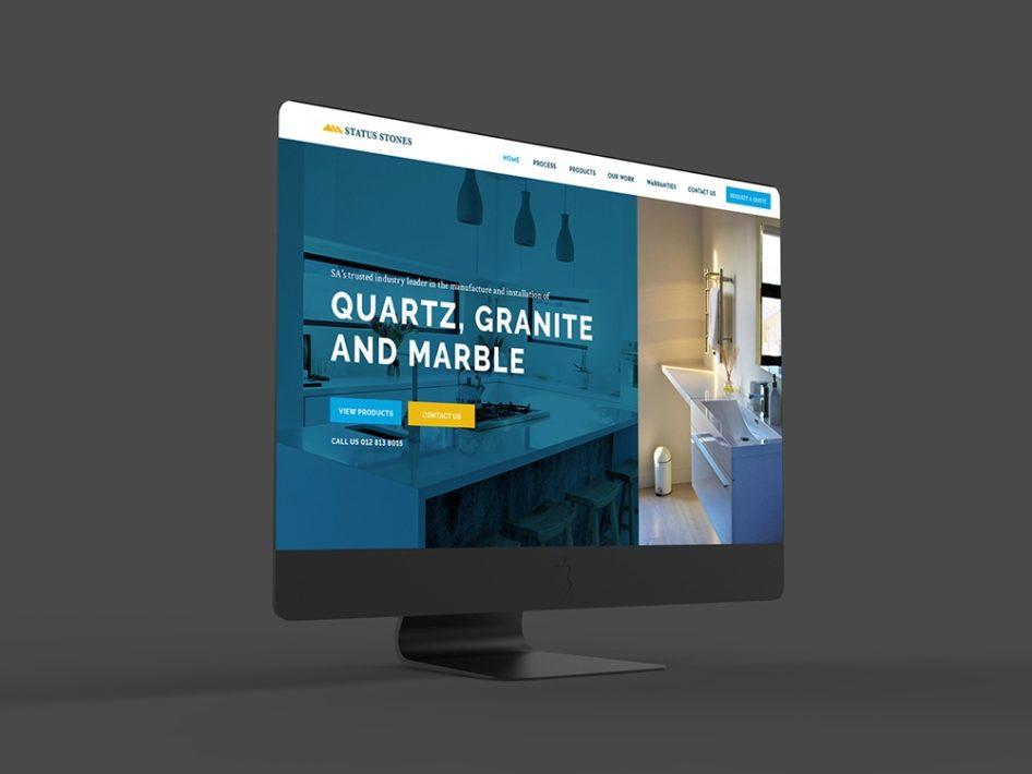 Status Stones Website Design