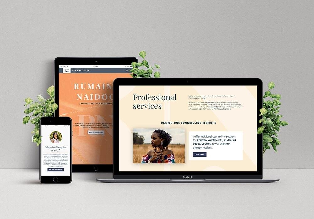 Rumaine Naidoo Psychology Website Design